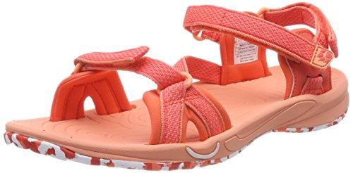 Jack Wolfskin LAKEWOOD RIDE SANDAL W, Damen Sport- & Outdoor Sandalen, Orange (Hot Coral), 38 EU (5 UK)