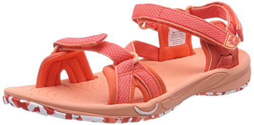 Jack Wolfskin LAKEWOOD RIDE SANDAL W, Damen Sport- & Outdoor Sandalen, Orange (hot coral),  39.5 EU (6 UK)