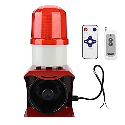 Industrial Sound and Red Flashing Warning Alarm Programmable Remote Control Siren Alarm 110dB