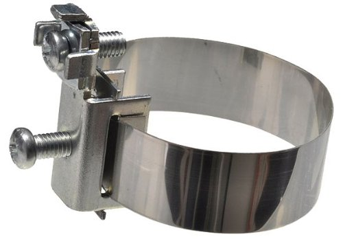 2 Stück - XmediaSat 719004 Band Erdungsschelle für Stahl- und Kupferrohre