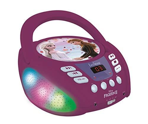 Lexibook- Disney La Reine des neiges 2-Lecteur CD Bluetooth