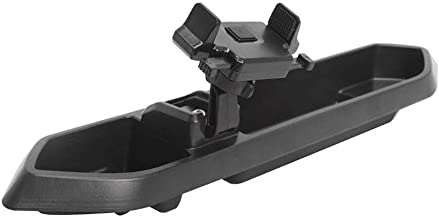 A ABIGAIL Multi-Mount Dash Phone Holder with Storage Box for Cell Phones Mini Tablets, fits 2018 2019 Jeep Wrangler JL
