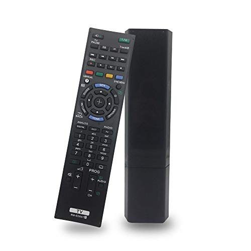 Reemplazo Control Remoto RM-ED047 para Mando Sony Bravia televisión Smart LCD LED TV RM-YD103 RM-ED050 RM-ED052 RM-ED053 RM-ED046 RM-ED044 RM-ED045 RM-ED048 RM-ED049 - No Requiere configuración