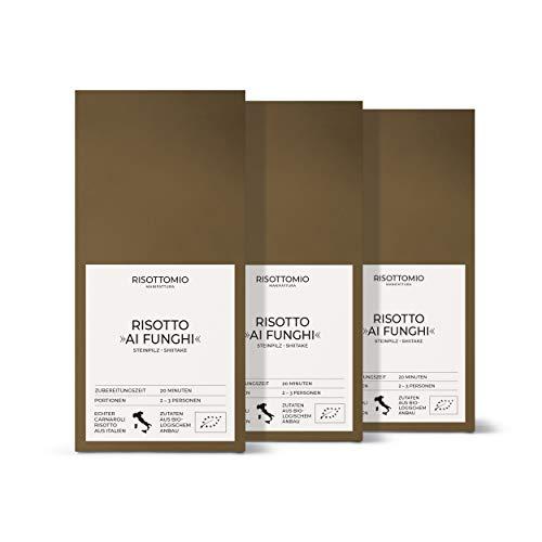 Risotto-Reis-Mischung Steinpilz Shiitake (3x 250 g) Bio-Carnarolli aus Italien