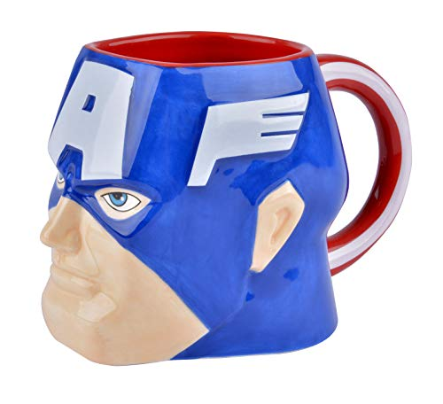 Taza Capitán América, 3D 384.45 ml