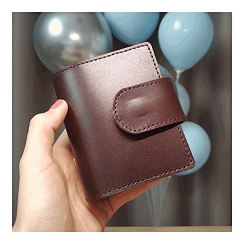 WPBOY Mini Cuaderno de Bolsillo Diario de Bolsillo Creativo Moda portátil Portátil Persalto de la Hoja de Cuero Pequeño Regalo de la libreta (45 Hojas) (Color : Coffee Color)