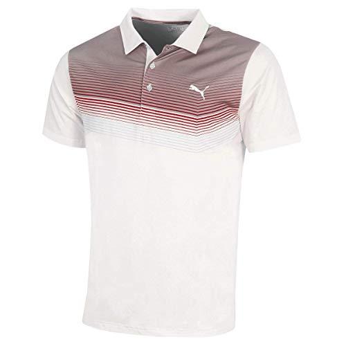 Preisvergleich Produktbild Puma Poloshirt Road Map Polo 574608_04 bright white-Paradise Pink 44 / 46