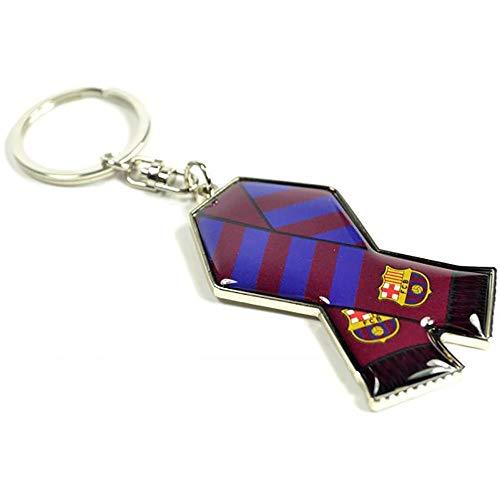 FCB FC Barcelona - Llavero metálico diseño de bufanda (Talla Única/Azul)