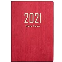 2021年のカレンダーノート、2021年1月から2021年12月までのA5ポケット日記 2021年を計画するためのカレンダーノートブック2021 (Color : B)
