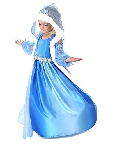 opdamyi Costume de princesse de la neige et de la neige 3 pièces pour fille avec cape