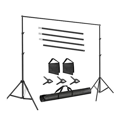 H HILABEE Kit de Soporte de Estante de Fondo Ajustable, Soporte Iluminación, Soporte de Fondo en Forma de T, Soporte de Luz de Caja de Luz, Fácil de Montar - Los 2.6x3m