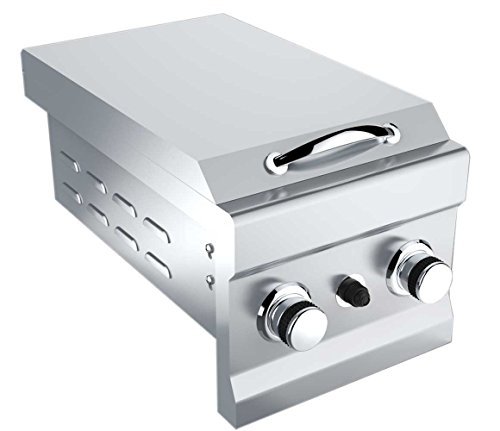 SUNSTONE 2CSB-NG Slide-In Double Side Burner Natural Gas Grill,Stainless Steel