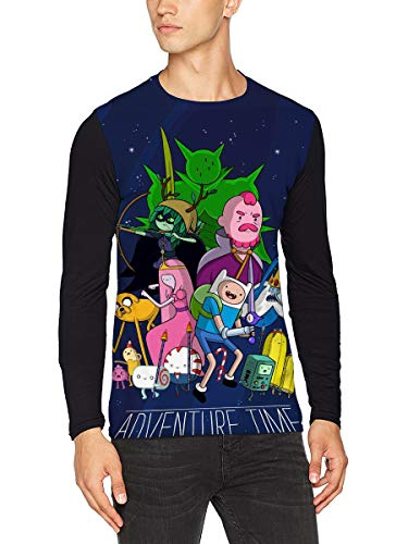 Adventure Time T-shirt Ligero elegante camiseta de manga larga entrenamiento deportivo de manga larga camiseta de manga larga de algodón suelto camiseta de manga larga tambor caliente de manga larga b