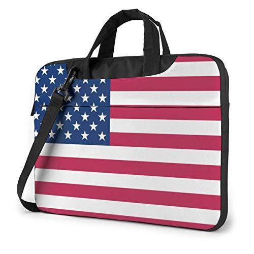 USA Vlag Laptop Schouder Messenger Tas, 15.6 Inch Laptop Sleeve Draagtas met riem