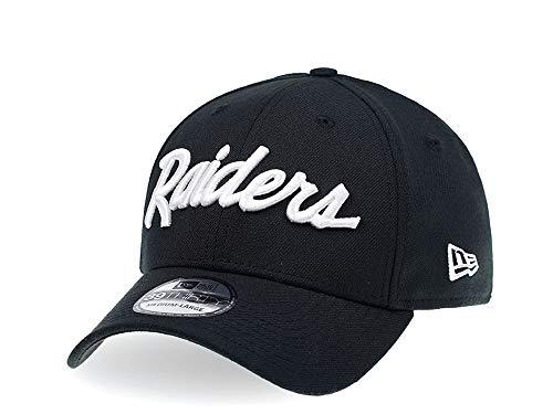 New Era Oakland Raiders - Gorra, diseño curvado, color negro