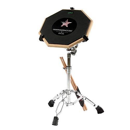 ZHXY Practice pad übungspad Schlagzeug Donner Drum Practice Pad mit Snare Drum Ständer Kit Drum pad (12-Zoll) Übungspad für Anfänger Trommel Pad Grau,Blau,Schwarz,Grün,Orange