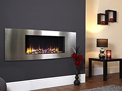 Celsi Designer Fire Ultiflame VR Vichy Silver - Wall Mounted Inset Electric Fire