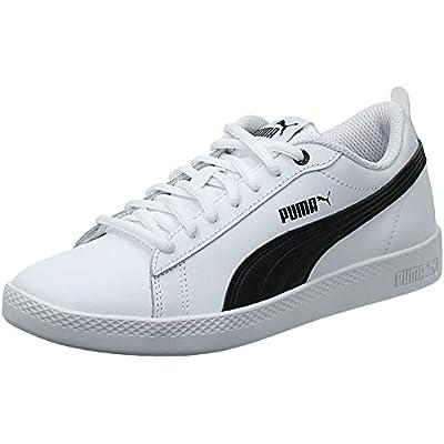 Puma - Smash Wns V2 L, Zapatillas Mujer, Blanco (Puma White-Puma Black 01), 38 EU