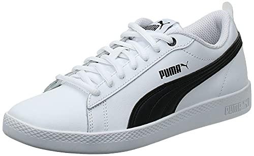 PUMA Damen Smash WNS V2 L Sneaker, White Black, 37.5 EU