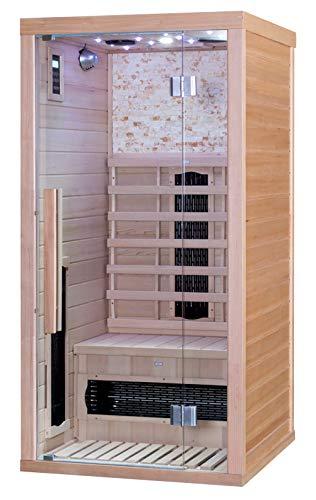YourCasa Infrarotsauna Sauna Infrarotkabine 1 Person mit viel Zubehör - Modell Svett Single
