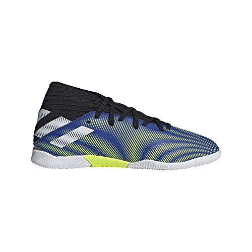 adidas Nemeziz .3 IN J, Zapatillas de fútbol, AZUREA/FTWBLA/NEGBÁS, 35.5 EU