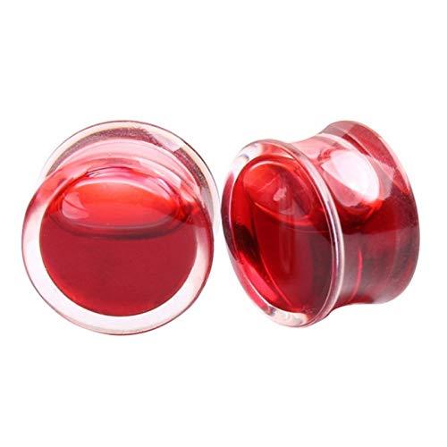Expansor de orejas Tapones 10pc líquido del oído Red Blood medidores acrílico y joyería pendientes Túneles medidores Piercing Piercing del cuerpo del ampliador accesorios (Metal color : 14mm)