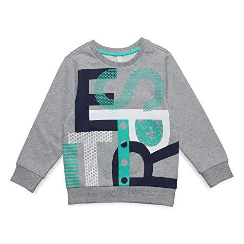 ESPRIT KIDS Jungen Sweat Shirt Sweatshirt, Grau (Mid Heather Grey 260), (Herstellergröße: 104+)