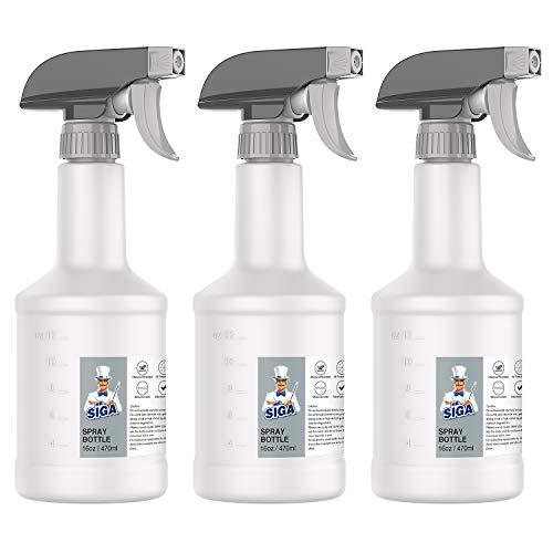 MR.SIGA Botella de spray atomizador Botella de spray de agua Botella de spray de hierro ajustable para plantas Peluquería Cocina para hornear Reutilizable, paquete de 3, 16 oz