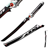 Sword Fort Handmade Katana Japanese Anime Cosplay Sword, Stainless Steel,Overwatch Genji Sword