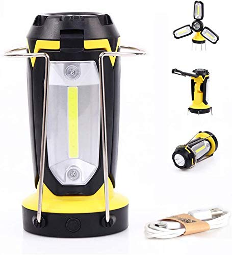 Portable LED Work Light, USB Rechargeable Spot Light Camping Light, Adjustable Stand, 6 Modes with SOS Light, 2200mAh Power Bank, Outdoor Lighting Emergency Light for Car Repair, Hiking, Garage