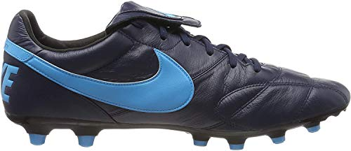 Nike The Premier II FG, Scarpe da Calcio Unisex Adulto, Nero (Obsidian/Lt Current Blue/Black 440), 45 EU