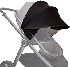 SODIAL cochecito de bebe parasol Carriage Sun Shade Toldo cubierta para Cochecitos Cochecitos Accesorios Coche Negro