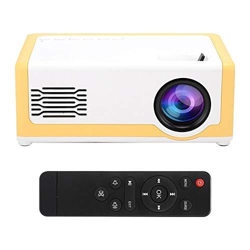 Hopcd Mini proyector portátil, Mini proyector de Video LED con Pantalla de proyección de 60 Pulgadas, Altavoces de Alta fidelidad incorporados Admite Interfaz de Disco AV/HDMI/U(EU)