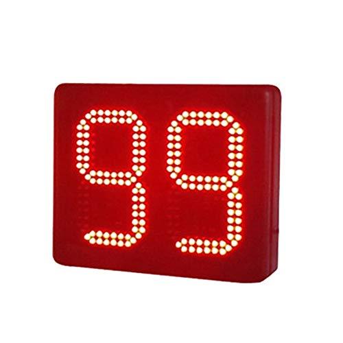 WyaengHai Countdown-Uhr Große Uhr Countdown-Uhr Fernbedienung des Digitalen Multifunktionslampe Geeignet für Fitness-Studio Fitness (Farbe : Schwarz, Größe : 8-inch)