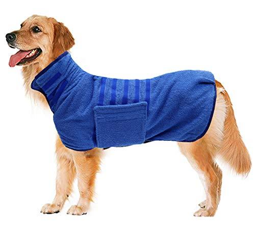 Geyecete Hundemantel – Trocknet schnell Hunde – Hunde-Bademantel – Mikrofaser schnell trocknend super saugfähig Haustier Hund Katze Bademantel Handtuch C628