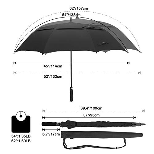 G4Free 62 Inch Automatic Open Golf Umbrella