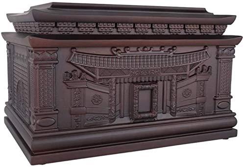 WNN-URG Urnas for Cenizas Humano Adulto, adecuados for el Cementerio entierro o Muebles for el hogar (en Pulgadas) 15x10.3x9.4 URG
