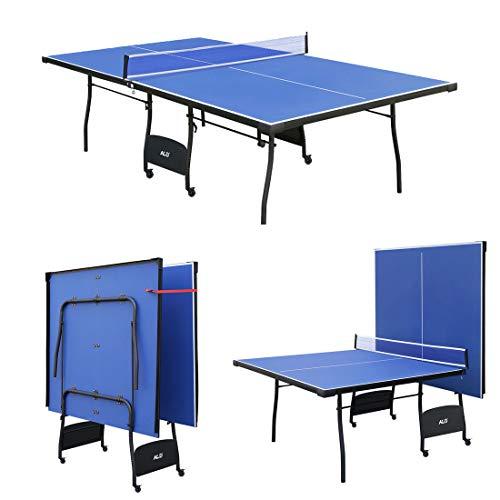 Jack's Household Mesa de PingPong Plegable y Ajustable, con Ruedas. Color Azul 274 * 152.5 * 76 cm Nuevo Modelo!