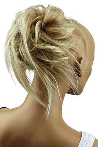 PRETTYSHOP XXL Haarteil Haargummi Hochsteckfrisuren Brautfrisuren Voluminös Gewellt Unordentlich Dutt Blond Mix G11F