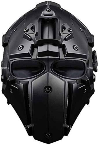 SNFHL Casco Militare Tattico Casco da Paintball Casco Airsoft Casco Protettivo Maschera Integrale attività All'aperto Circonferenza della Testa: 54-64 Cm,32.5x29x19.5cm-Style 4