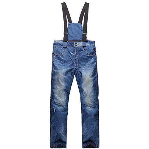 Yiwa heren winter jeans snowboard winddicht verdikking waterdicht skibroek