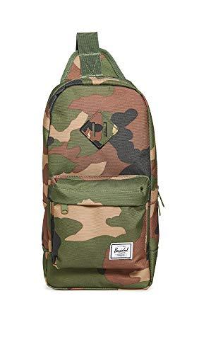 Herschel Heritage Shoulder Bag Backpack, Woodland Camo, One Size 8.0L