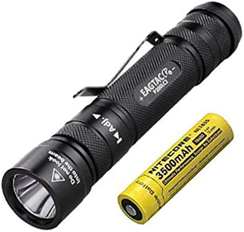 Combo  EagleTac P200LC2 1286 Lumens Flashlight XM-L2 U4 w NL1835 Battery