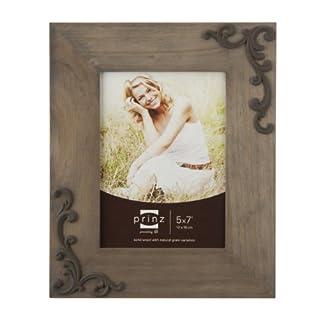 PRINZ Lillie-Scrolls Wood Photo Frame, 5 by 7-Inch, Taupe (B00B1PJRFM)   Amazon price tracker / tracking, Amazon price history charts, Amazon price watches, Amazon price drop alerts