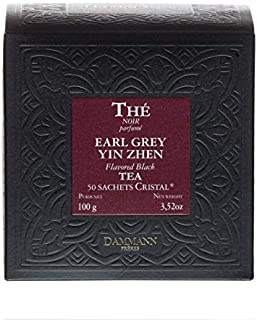 Passerini – 1919 Dammann Earl Grey Yin Zhen – schwarzer Tee, 50 Kristallfilter, 100 Gramm, Dammann Frères