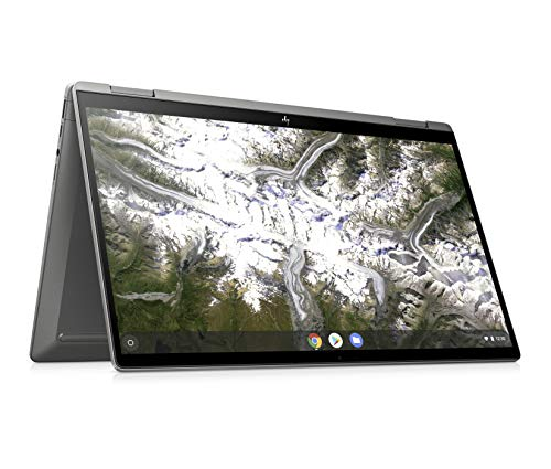 HP Premium Chromebook x360 14c-ca0259ng (14 Zoll / FHD IPS Touch) Convertible Chromebook (Intel Core i5-10210U, 8GB DDR4 RAM, 128GB eMMC, Intel UHD Grafik, Chrome OS) Silber