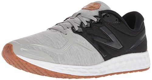 New Balance Men's Veniz V1 Fresh Foam Running Shoe, Silver Mink/Black, 14 2E US