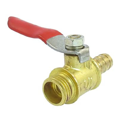 "Amico 1/4""PT Male Thread to 8mm Barb Hose Lever Handle Brass Ball Valve from Amico"