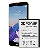 Battery for LG Stylo 3, Upgraded GDPower 4500mAh High Capacity 0 Cycle Battery BL-44E1F Replacement for LG Stylo 3 LG Stylo 3 Plus TP450 MP450 LS777, LG Stylo 3 Spare Battery