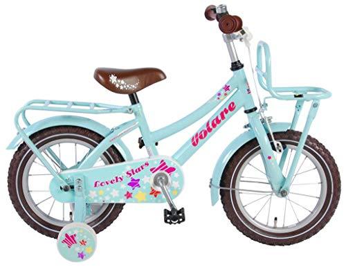 Volare Lovely Stars Kinderfiets - Meisjes - 14 inch - Mint Blauw - 95% afgemonteerd